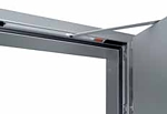 steel frame and door closer