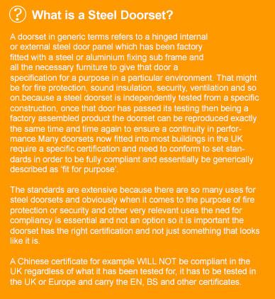 What is a steel doorset