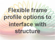 Flexible frame profile options