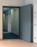Inside installed steel door set