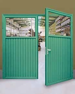 single skin double steel doors