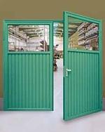 single skin double steel doors