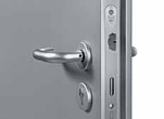 steel doorset lever handle operation