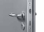 steel doorset lever handle operation