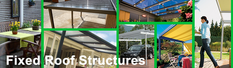 Patio Terrace Covers Fixed Roof Structures Piazza Terrazza Awnings Domestic Commercial