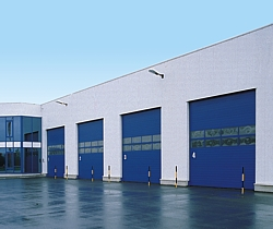 hormann SPU 40 insulated sectional doors in blue