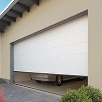 Sectional Garage Doors in grey finish