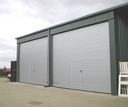 hormann spu 40 sectional door with wicket door inset