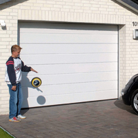 White Sectional garage doors from Samson Doors