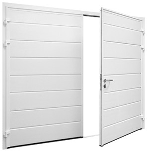 insulated side hinged doors in white