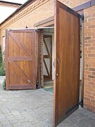 electric operated side hinged garage doors