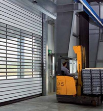 Save Energy & Time with an Insulated High Speed Spiral Door