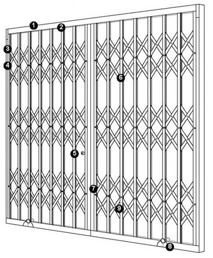security grille specification and features