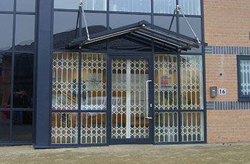 security grilles on london offices