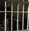 solid steel window security bars in coloured finishes