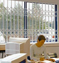 discreet and tough steel grilles for office windows