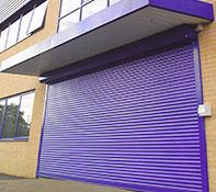 seceuroshield 6000 shutter in blue colour finish